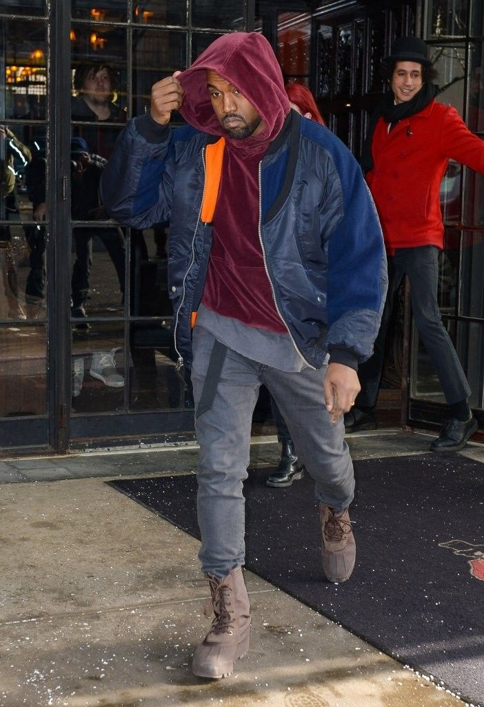 Kanye West Wears Adidas Collaboration Boots