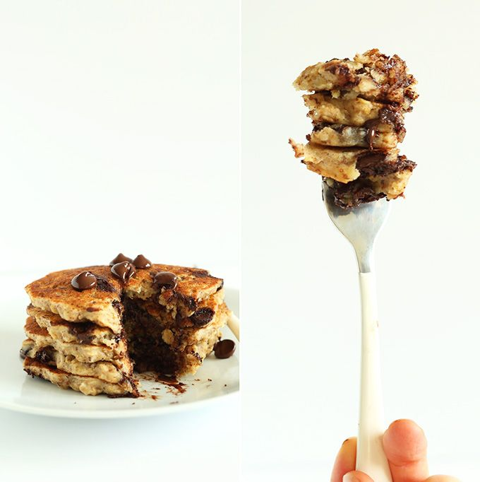 Chocolate Chip Oatmeal Cookie Pancakes 2.0 | Recipe | Minimalist baker ...