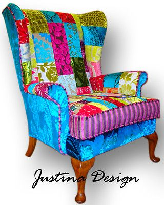 Unique One Off Vintage Patchwork Chair Sofa Designers Guild Fabric on eBay!