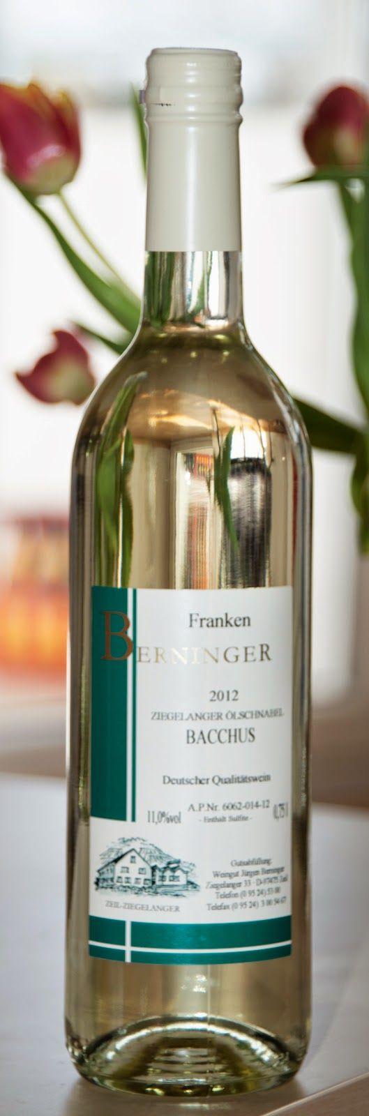 German Bacchus white wine from Berninger in Franconia
