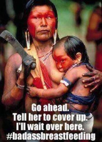 Breastfeeding in public ;-)