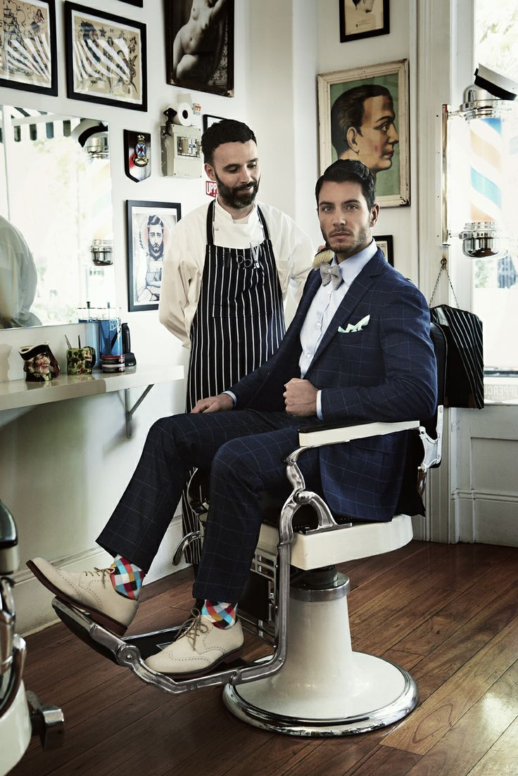 Styled by Parish Stapleton and photographed by Marty Lochmann. #fashion #styling #barber #suiting
