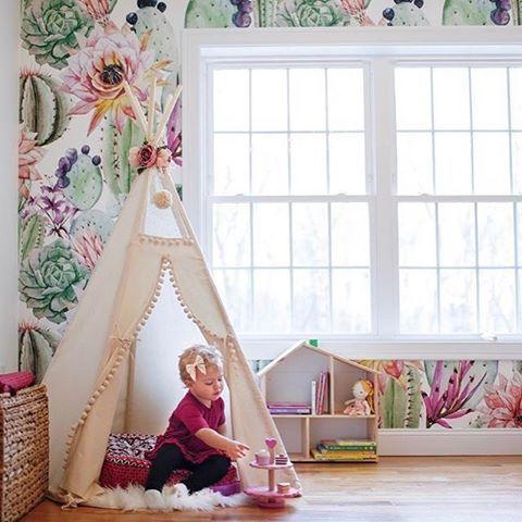 Best Childrens Room Wallpaper Images On Pinterest Project - Girls flower bedroom wallpaper