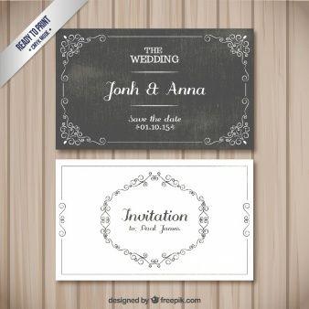 Cartões retros do casamento