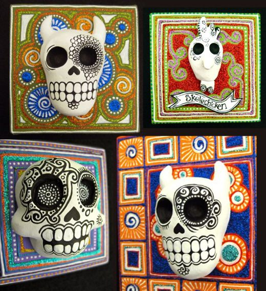 Awesome 3-D Day of the Dead sugar skull mask art project