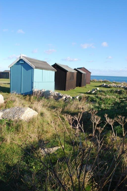 Beach huts on Portland Bill, Dorset