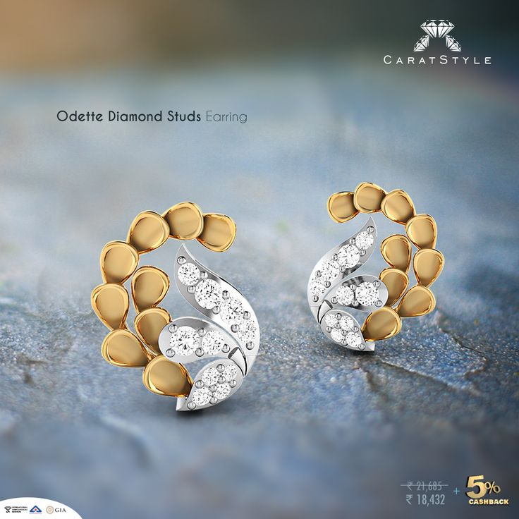 You're the glamour adding the spice of grace to #jewellery. #studs #earrings…