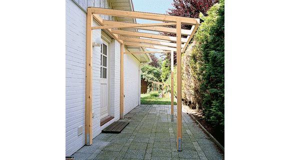 Vordach aus Holz und Glas selber bauen Vordach holz