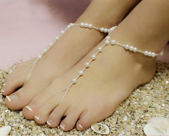 Beach Foot Jewelry Imitation Pearl Barefoot Sandal Price : $2.20 #barefoot sandals #foot jewelry #barefoot baby sandals #wedding barefoot sandals #barefoot shoes for women #barefoot wedding shoes #beach wedding barefoot sandals #bridal barefoot sandals #foot jewelry for wedding #wedding foot jewelry