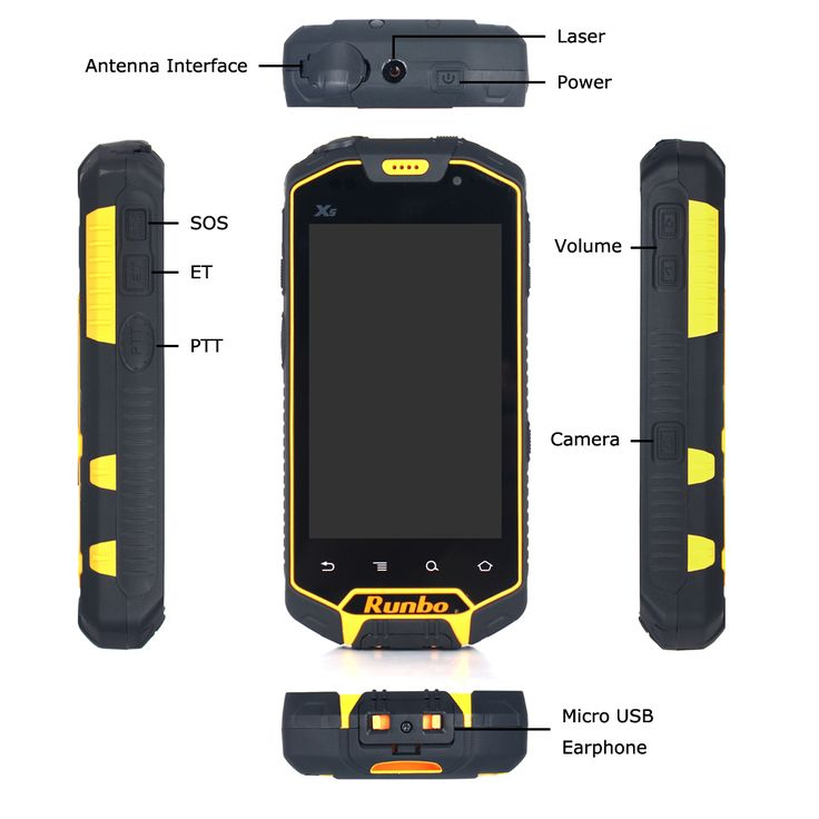 runbo x5 ip67 waterproof smartphone