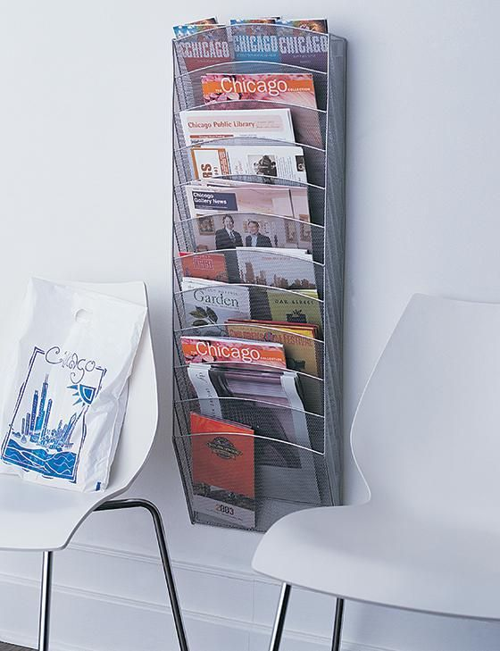 Wall Magazine Rack - Wall-mounted Magazine Rack - Hanging Magazine Rack - Wall Magazine Rack | HomeDecorators.com