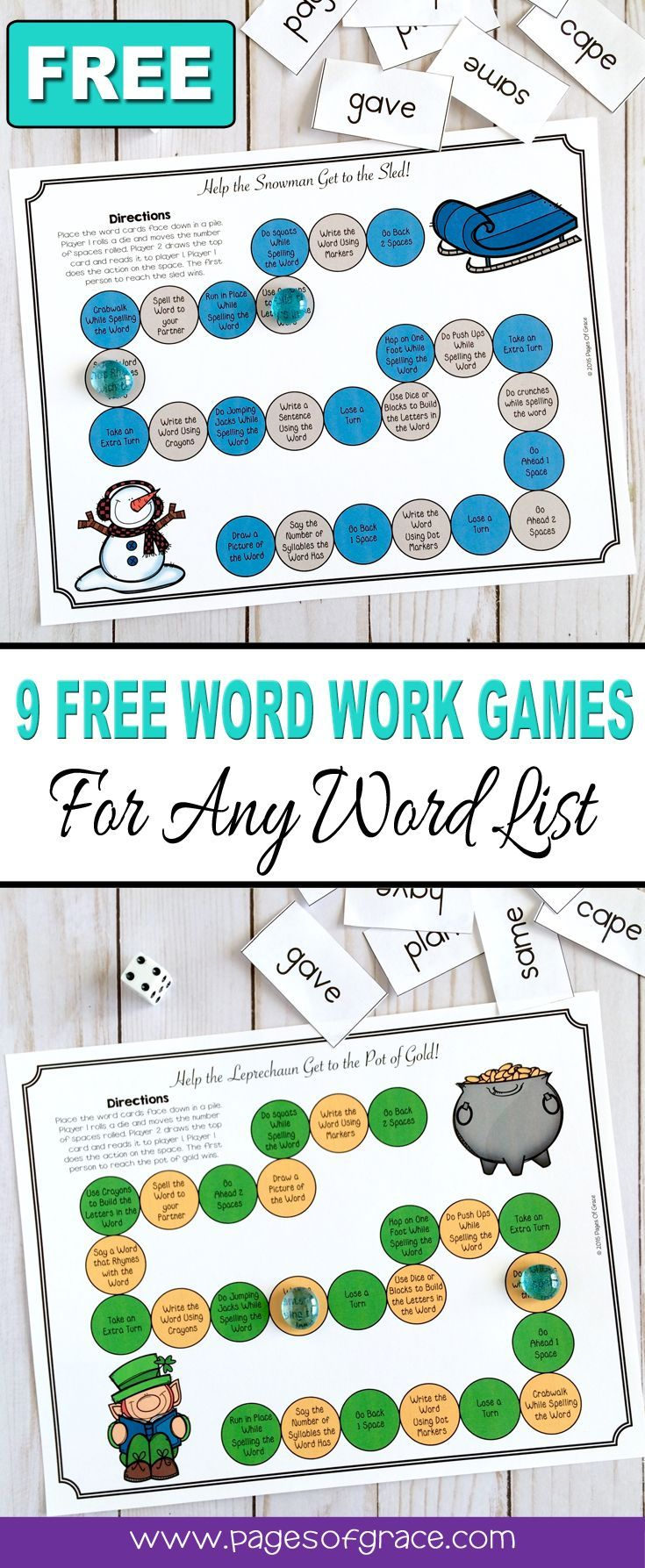 Help your students master any word list and have some holiday and seasonal fun with this