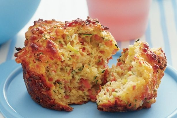 A muffin with oodles of cheesy-flavour and perfect packed for a picnic or fresh-from-the-oven.