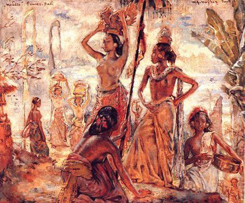 Ni Gusti Kompiang Mawar Ni Kenjoeng By Lamplight Mekiis Ni Kenyung Ni Kenjoen, Bali Goesti Made Toewi Balinese Beauty Three Balinese Girls A Nude In Front Of Mirror Re Remioth Made Toei Seated Nude…