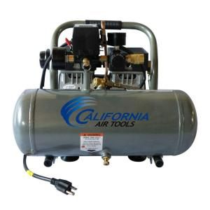 California Air Tools 1.6-Gal. 3/4 HP Ultra Quiet and Oil-Free Aluminum Tank Air Compressor-1675A at The Home Depot
