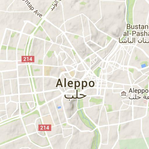 Aleppo map, Aleppo topography, Aleppo elevation, Aleppo relief, Syria, Aleppo Governorate, Mount Simeon, Aleppo, locality.
