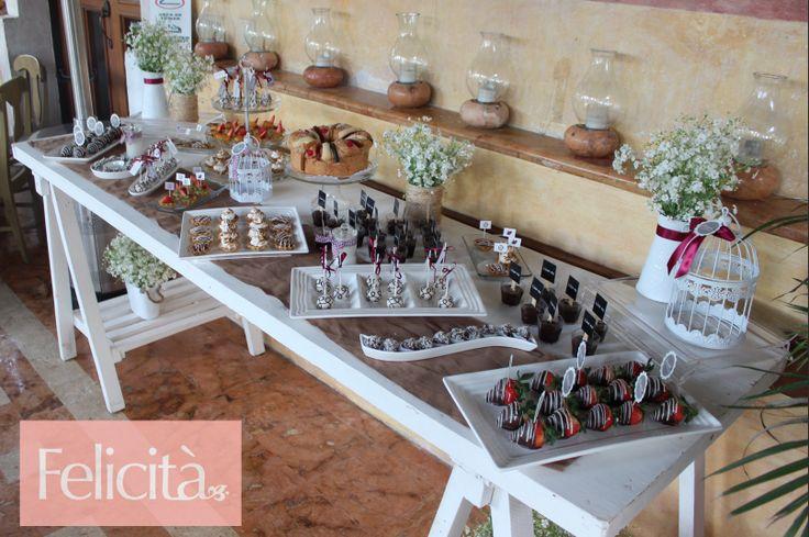 Mesa de dulces para bautizos #Felicità