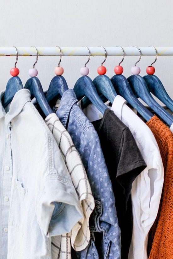 diy clothing hanger idea