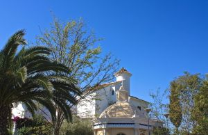 Religious monument on the road between Nerja and Maro