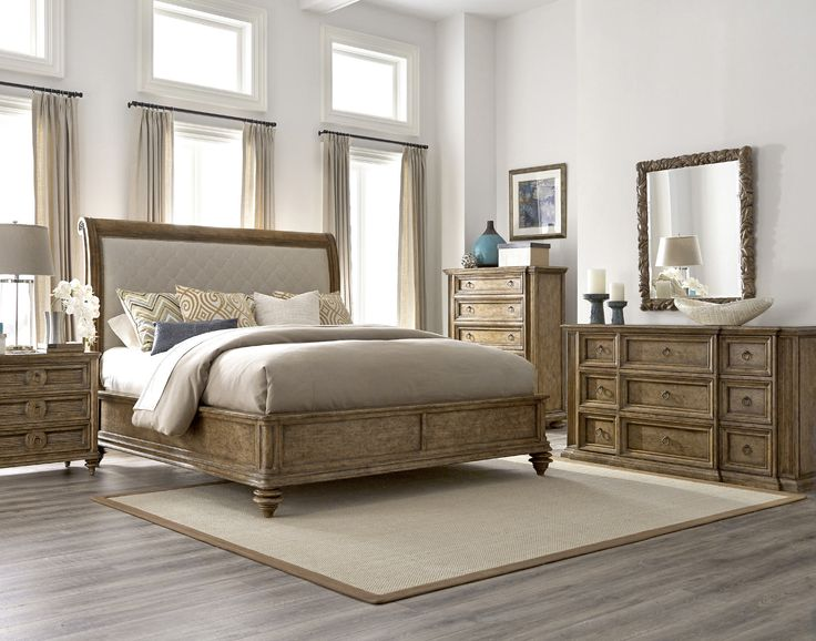 Pavilion Queen Upholstered Sleigh Bed | A.R.T. Furniture | Home Gallery Stores