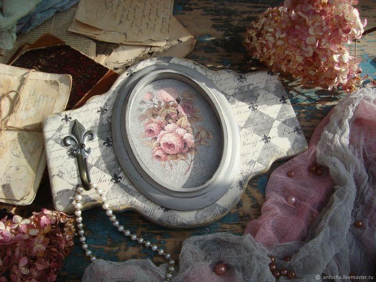 """""""Королева цветов"""" Панно-вешалка – купить в интернет-магазине на Ярмарке Мастеров с доставкой"""