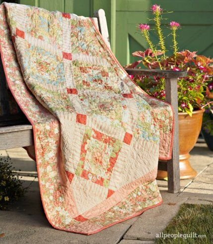 Choose pastel prints, floral fabric, or spring motifs for a quilt that's  perfect for the season. These projects will make your home feel renewed and  refreshed (and will add a punch of color!).
