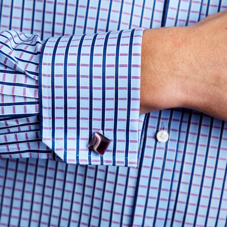 Outrigger Check Shirt - Double Cuff by Thomas Pink