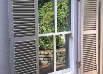 sliding sash double glazed with shutters