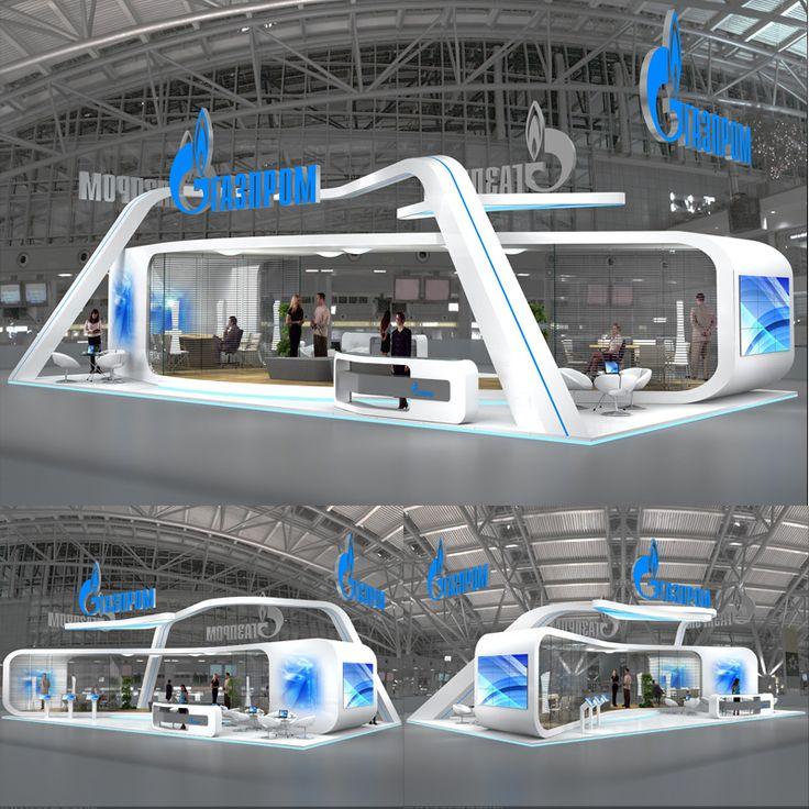 Exhibition Stand Futuristic : Gazprom d stands pinterest
