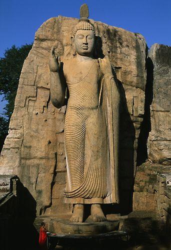 Aukana, ancient rock carving in Sri Lanka