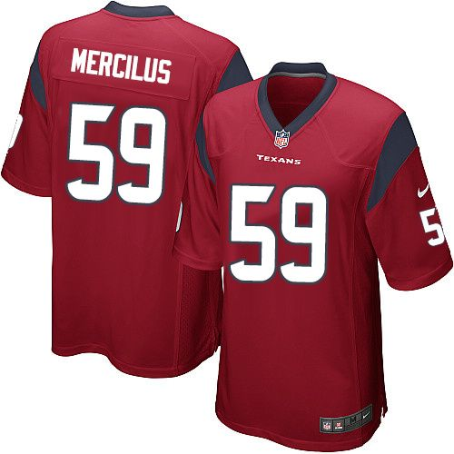 Nike Limited Whitney Mercilus Red Youth Jersey - Houston Texans #59 NFL Alternate