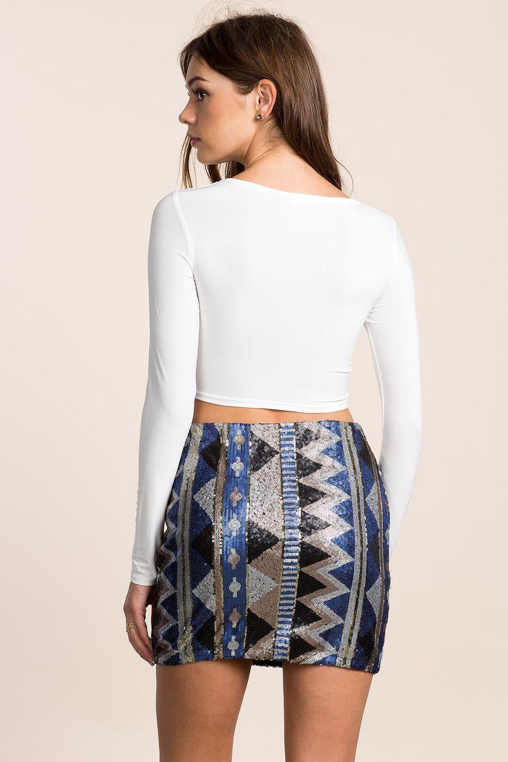 Юбка с блестками Размеры: S, M, L Цвет: синий с принтом Цена: 1557 руб.  #одежда #женщинам #юбки #коопт