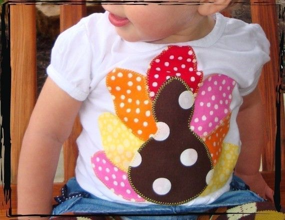 Gobble Gobble GIRL TURKEY Happy Thanksgiving Onesie or by thenook, $18.00