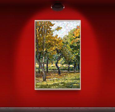 «Осенний этюд». Зайцева Ирина; холст, масло;  2012