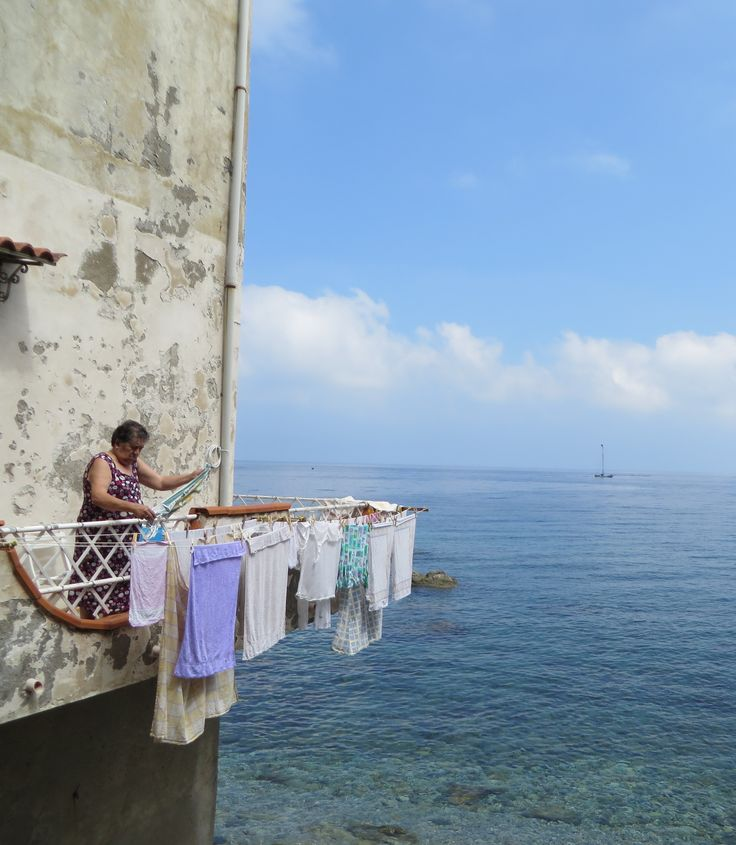 Hanging the laundry ~ Scilla, Calabria