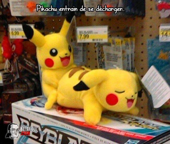 Pikachu entrain de se décharger... - Be-troll - vidéos humour, actualité insolite