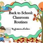 $Back to School Class Routines includes: 1. Class Contract/ Class rules lesson 2. Great Job bulletin board  3. Homework incentive strategy -class...