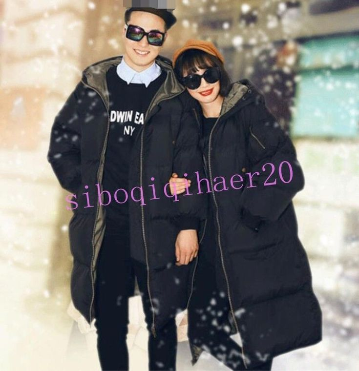 Womens Men Cotton-Padded Hooded Coat Couples Jacket Warm Overcoat Parkas Plus Sz