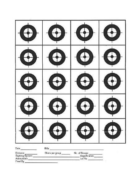 Rimfire Central 20 Circle Target Targets Printable