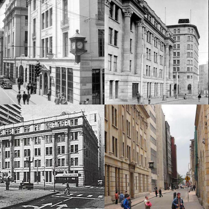 BOGOTÁ; HISTORIA E IMÁGENES: El edificio Pedro A. López. Fue la primera sede que tuvo el Banco de La República y el primero con ascensor eléctrico en Bogotá. También estuvo alojado allí el Museo Nacional - con mono de la pila incluido - entre 1922 y 1940. Publicación de Joselh Hómez.