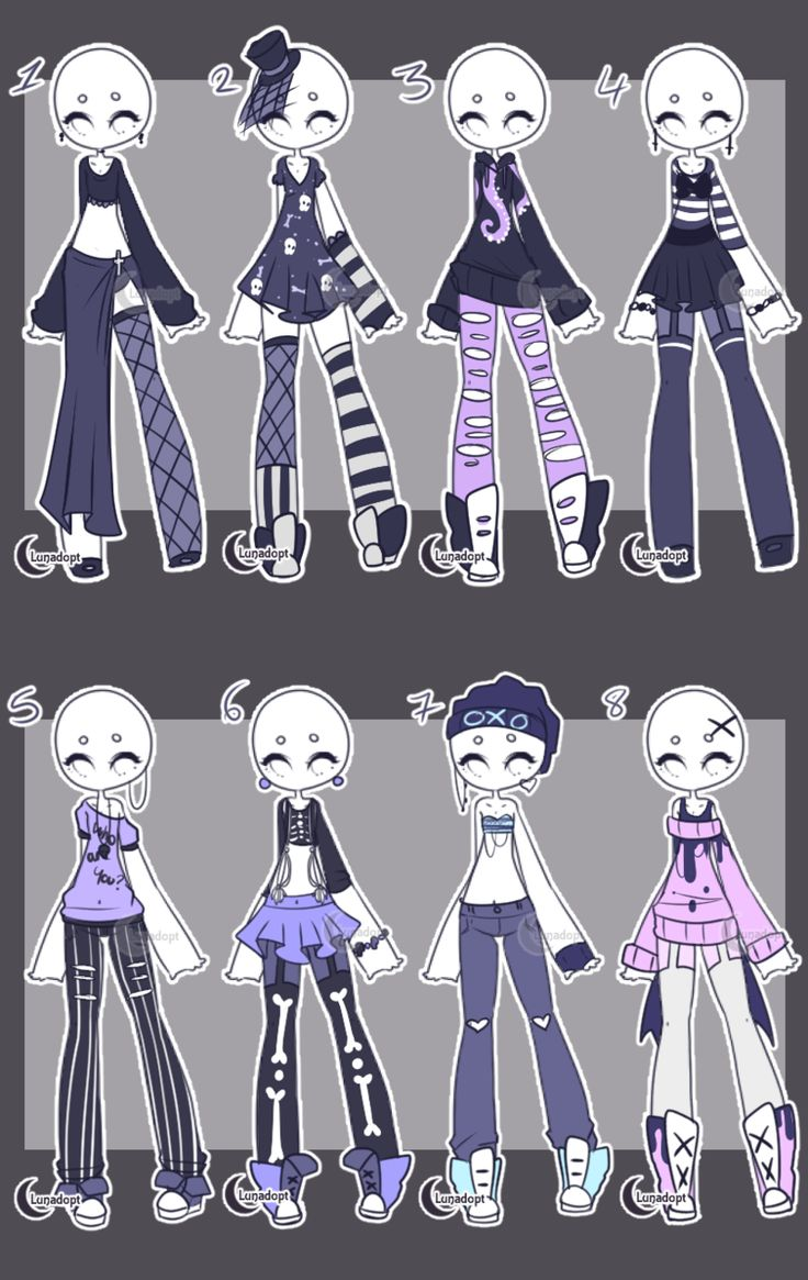 Adopts Cute Goth Outfits CLOSED by Lunadopt Dibujar