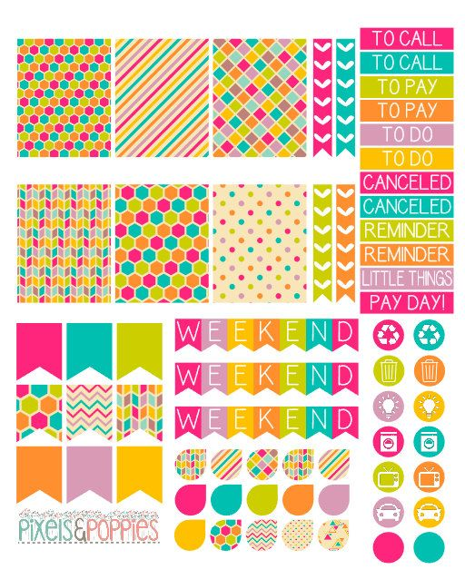 Hey, I found this really awesome Etsy listing at https://www.etsy.com/listing/239208424/73-colorful-theme-stickers-planner