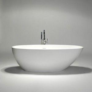 blu•stone one-piece freestanding bathtub
