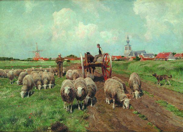 FRANS VAN LEEMPUTTEN Belgian (1850-1914)