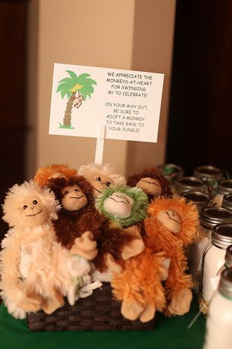 "Monkey Birthday Party - Favors for kids ""Adopt a Monkey""  Photo by CaraBethStudio.com"