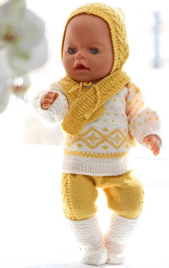 Gorgeous knitting patterns for dolls dresses