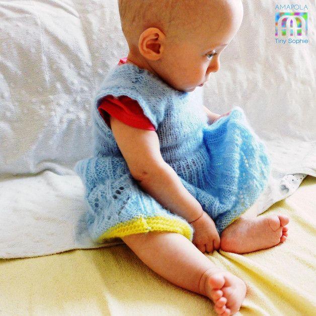 niebieska sukienkeczka - Gosia-Lisowska - Kurtki dla niemowląt