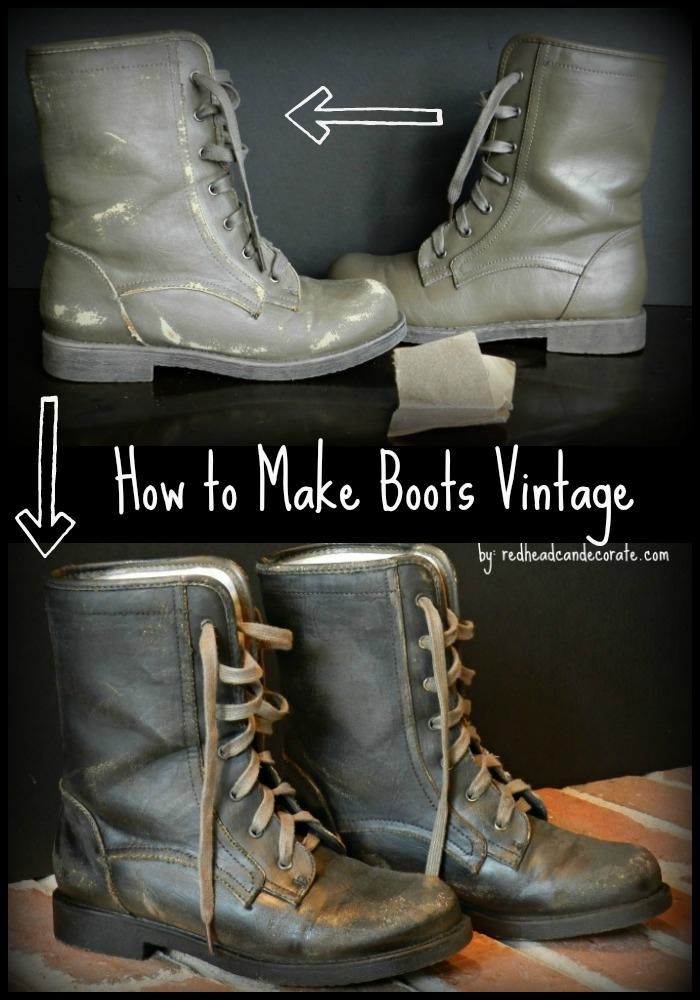 Tutorial on how to make boot look vintage....(or just wear things long enough and they'll get there eventually! :)