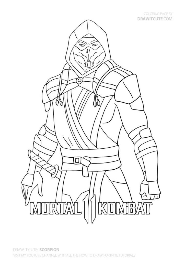 How To Draw Scorpion From Mortal Kombat 11 Step By Step Tutorial