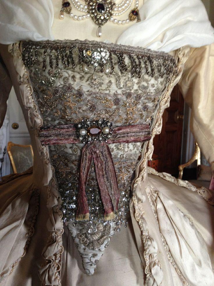 Stomacher detail, 'The Wedding dress', The Duchess exhibition at Berrington Hall, April 1st - June 31st 2014